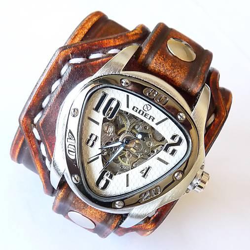 3aba781c6 Pánske kožené hodinky hnedé / leon - SAShE.sk - Handmade Náramky