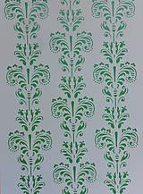 Pomôcky/Nástroje - Šablóna (tenká)- Tapetový ornament 21x29,7 cm - 5370488_