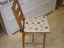 Úžitkový textil - Sedáky modré na stoličky - 5369438_