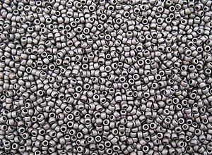 Korálky - Toho Round TR-11-566 Metallic-Silver-Frosted Antique Silver 11/0, bal.10g - 5369868_