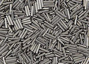 Korálky - Toho Bugle TB-03-0711 - Nickel Plated Silver Metallic  #3(9mm), bal.10g - 5370359_