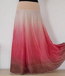 Sukne - Vyladěná na jemnost...dlouhá hedvábná sukně - 5370918_