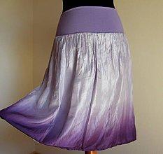 Sukne - Vůně šeříků...krátká hedvábná sukně - 5370931_