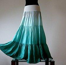 Sukne - Voňavé svěží povětří...bohatá hedvábná sukně - 5370991_