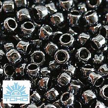 Korálky - TOHO rokajl (Takumi lh Round 2mm) Metallic hematite - 5372255_
