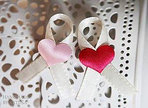 Pierka - svadobné pierka so srdiečkom - 5376232_