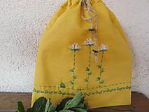Úžitkový textil - Vrecko na bylinky- rumanček - 5375171_