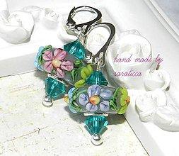 Náušnice - FLOWER...striebro AG 925 - 5372622  6821f1c6a82