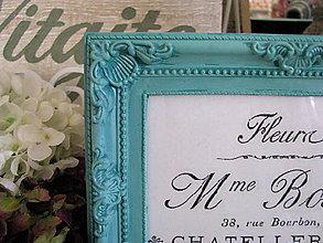 Rámiky - Rámček na fotku Turquoise I. - 5374964_