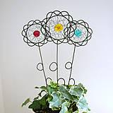 Dekorácie - farebné kvety  - 5378546_