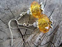 Náušnice - rondelkové náušnice žlté 2 - 5379035_