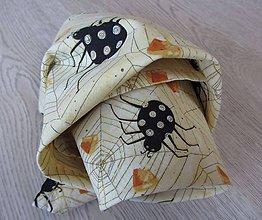 Detské doplnky - Šatka detská... s pavúčikmi - 5376650_