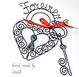 Dekorácie - Forever...zámok a klúčik - 5378945_