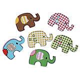 - Drevené gombíčky sloníky (balíček 10ks) - 5379191_