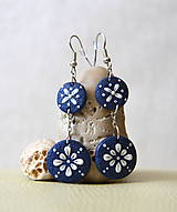 Folk ornament biely - dvojité