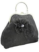 Spoločenská dámská kabelka čierná 1160A