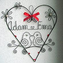 Dekorácie - mladomanželom - svadobné srdce ❤ 20cm - 5380662_