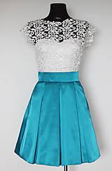 - Spoločenské šaty vo vingate štýle s ivory krajkou  - 5380437_
