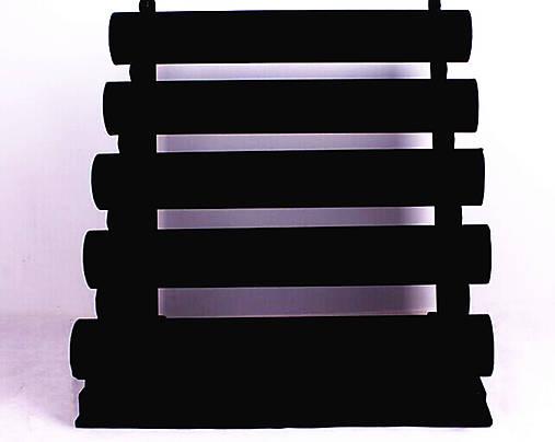 5-radový stojan na náramky semiš čierny