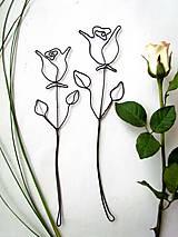 Dekorácie - ruža III.  - 5381027_