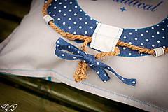 Úžitkový textil - Vankúšik Nautical No.2- ešte vymakanejší :) - 5385190_