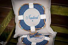 Úžitkový textil - Vankúšik Nautical No.2- ešte vymakanejší :) - 5385192_
