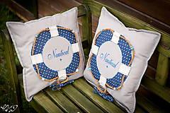 Úžitkový textil - Vankúšik Nautical No.2- ešte vymakanejší :) - 5385193_