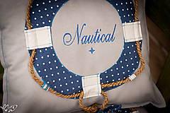 Úžitkový textil - Vankúšik Nautical No.2- ešte vymakanejší :) - 5385203_