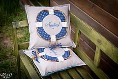 Úžitkový textil - Vankúšik Nautical No.2- ešte vymakanejší :) - 5385204_