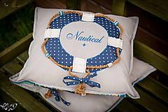 Úžitkový textil - Vankúšik Nautical No.2- ešte vymakanejší :) - 5385205_