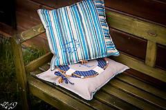Úžitkový textil - Vankúšik Nautical No.2- ešte vymakanejší :) - 5385208_