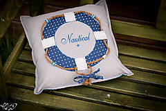 Úžitkový textil - Vankúšik Nautical No.2- ešte vymakanejší :) - 5385209_