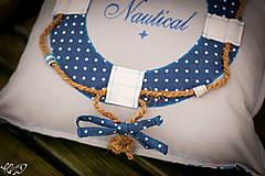 Úžitkový textil - Vankúšik Nautical No.2- ešte vymakanejší :) - 5385213_
