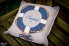 Úžitkový textil - Vankúšik Nautical No.2- ešte vymakanejší :) - 5385216_