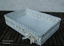 - Svadobný košík - 45x30x10cm (masielková stuha) - 5384434_