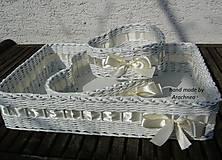 Svadobné košíčky - menšie sady (masielková)