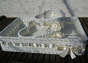 Dekorácie - Svadobné košíčky - menšie sady (masielková) - 5384487_