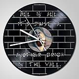 Pink Floyd THE WALL - vinylové hodiny z LP