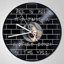 Hodiny - Pink Floyd THE WALL - vinylové hodiny z LP - 5385872_