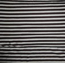 Textil - Úplet pruhovaný - hnedý - 5385538_