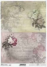 - Ryžový papier Dvojaké kvety 729 - 5383815_