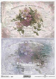 Papier - Ryžový papier Kvety dvojmo 727 - 5383783_