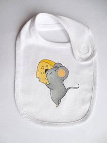 Detské doplnky - Podbradníček myška - 5386755_
