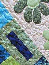 Úžitkový textil - Key Lime quilt - 5388835_