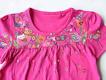 Detské oblečenie - Vtáčiky na ľudovú nôtu - 5389281_