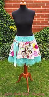 Sukne - Vtáčky, motýle a ruže - 5387550_