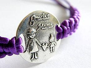 Náramky - dakujem mama- shamballa - violet - 5386124_