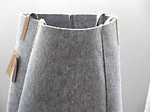 Košíky - Kôš filcový vysoký - 5387422_