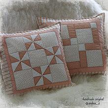 Úžitkový textil - púdrovo ružová dvojica - 5387567_