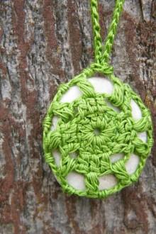 Náhrdelníky - Zelený náhrdelník - 5389542_